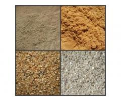 Доставка песка, щебня, керамзита в Москве и области.