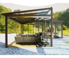 Безрамные стеклянные конструкции любой сложности от компании Акас Глас