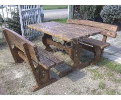 Изготовление садовой мебели из массива сосны под заказ