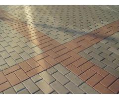 Укладка гранитной брусчатки тротуарной плитки