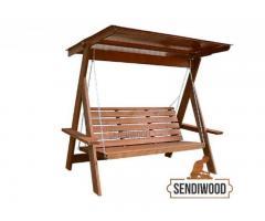 Производство и продажа деревянных качелей.
