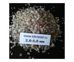 Кварцевый песок фракция 2,0-5,0