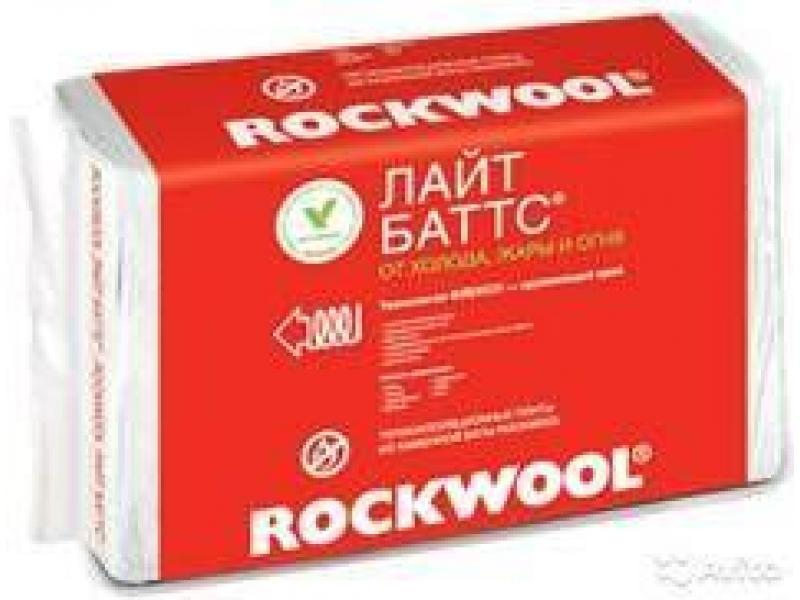 Rockwool Лайт Баттс 50-200мм  в упак. 0,3 м3; 6,0 м2, 1000*600мм 1520р/м3 - 1/1