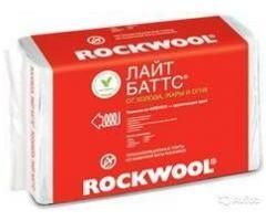 Rockwool Лайт Баттс 50-200мм  в упак. 0,3 м3; 6,0 м2, 1000*600мм 1520р/м3