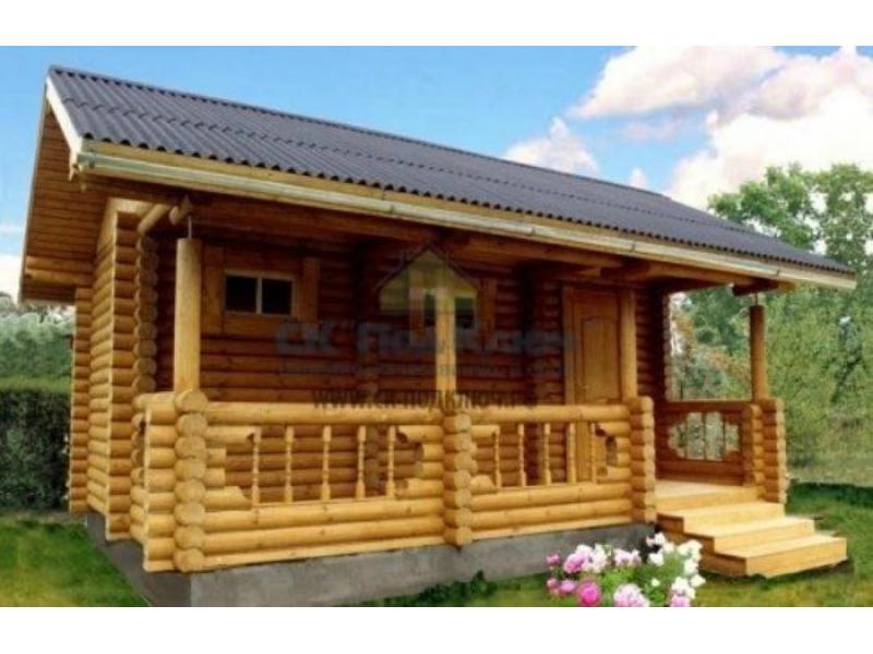 Строительство дачных домов, бань из бревна, из бруса или каркасных бань. - 2/3