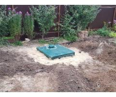 Монтаж под ключ автономной канализации Юнилос Астра 5 ПР для дачи