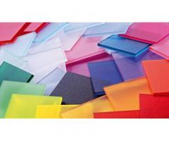 Пластик листовой различных форматов и цветов