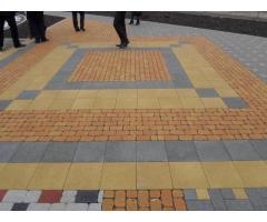 Брусчатка, тротуарная плитка, бордюры