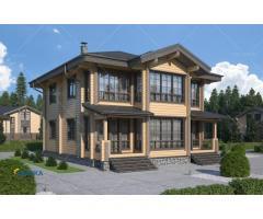 Наилучшее решение по строительству дома из профилированного бруса.