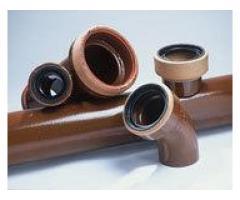 Трубы канализационные, керамические (вечные)