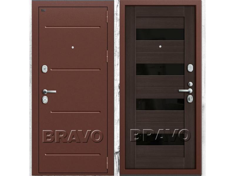 Входная стальная дверь Groff Т (Тechnics) Т2-223 (88 мм) Wenge Veralinga/Black Star - 1/1