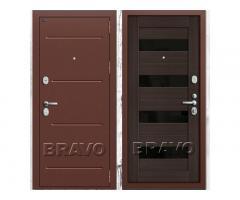 Входная стальная дверь Groff Т (Тechnics) Т2-223 (88 мм) Wenge Veralinga/Black Star