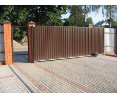 Откатные ворота, ворота, распашные ворота