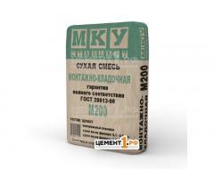 Сухие строительные смеси марки МКУ стандарт М300, М200, М150 оптом