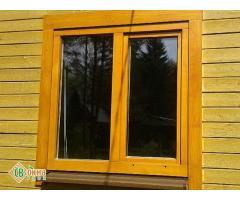 Дешевые деревянные окна со стеклопакетами Эконом