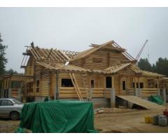 Принимаем заказы на изготовление срубов домов и бань.