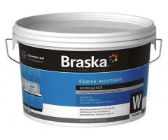 Краска моющаяся для детских и медицинских учреждений BRASKA