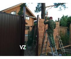 Откатные ворота и заборы под ключ в СПб