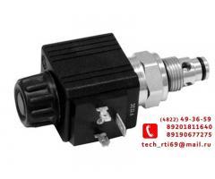 гидравлический распределитель с электромагнитным управлением 24в