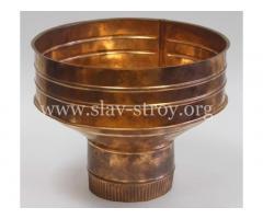Водосточная система из меди, из оцинкованной стали, из металла с полимерным покрытием.
