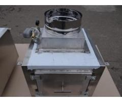 Проточный вертикальный гидрофильтр Ф355 мм для мангалов