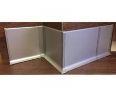 Алюминиевый плинтус, анодированный, из латуни и нержавейки, любой цвет, h-40-100