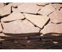 Камень галтованный Красный натуральный природный