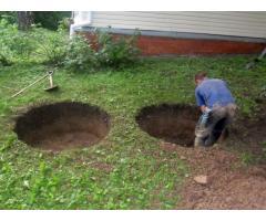 Выгребные ямы, канализации, водопровод, септики, отстойники, колодцы с переливом.