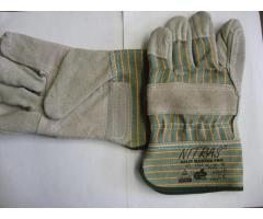 Перчатки комбинированные спилковые усиленные арт.1312