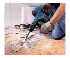 Демонтаж любой сложности или перепланировка в квартирах.