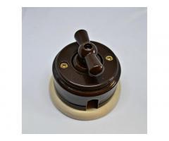 Ретро проводка на изоляторах, розетки,выключатели ретро, витой провод