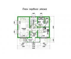 Проект каркасного дома Асан