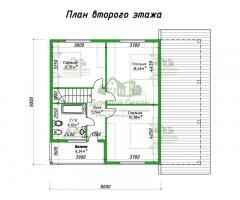 Проект каркасного дома Импала
