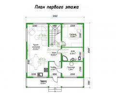 Проект каркасного дома Кано
