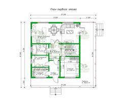 Проект каркасного дома Мерида
