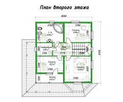 Проект каркасного дома Морелия