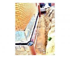 Дренажные работы, поверхностное водоотведение
