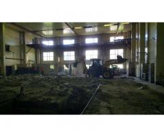 Демонтаж промышленных зданий и сооружений.