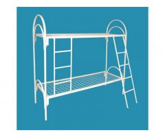 Железные кровати спинки ДСП, Кровати металлические армейского типа