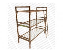 Трёхъярусные кровати металлические, Кровати полуторные оптом