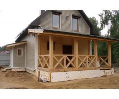 Проекты домов с верандой и террасой.