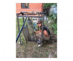 Ремонт, чистка, бурение, обустройство скважин, сантехнические работы под ключ. Инженерные работы.