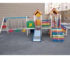 Водная краска для детских площадок и МАФ. На фанеру, массив.