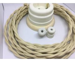 Ретро кабель и изоляторы керамические