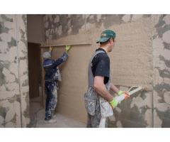Машинная штукатурка стен в Санкт-Петербурге и области от 180 рублей/м2!
