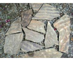 Камень Рыбка натуральный природный песчаник серо-зеленый