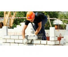 Требуются каменщики для работы в Москве и Московской области.
