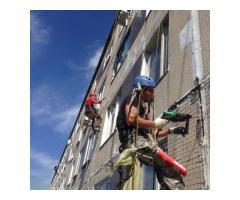 Промышленные альпинисты, ремонт фасадов, герметизация