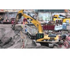 Разработка котлована, вывоз грунта, снос зданий
