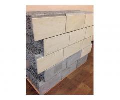 Блок «АЛБОР» керамзитный с готовым фасадом от производителя